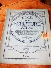 VINTAGE COLLECTABLE BOOKLET S.P.C.K. NEW SCRIPTURE ATLAS MAPS GEORGE PHILIP